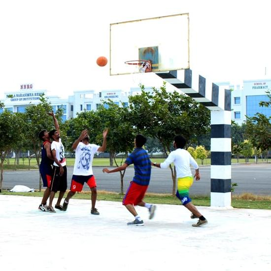 sports facilities like Basket Ball, Cricket, Volley Ball, Throw Ball, Football etc